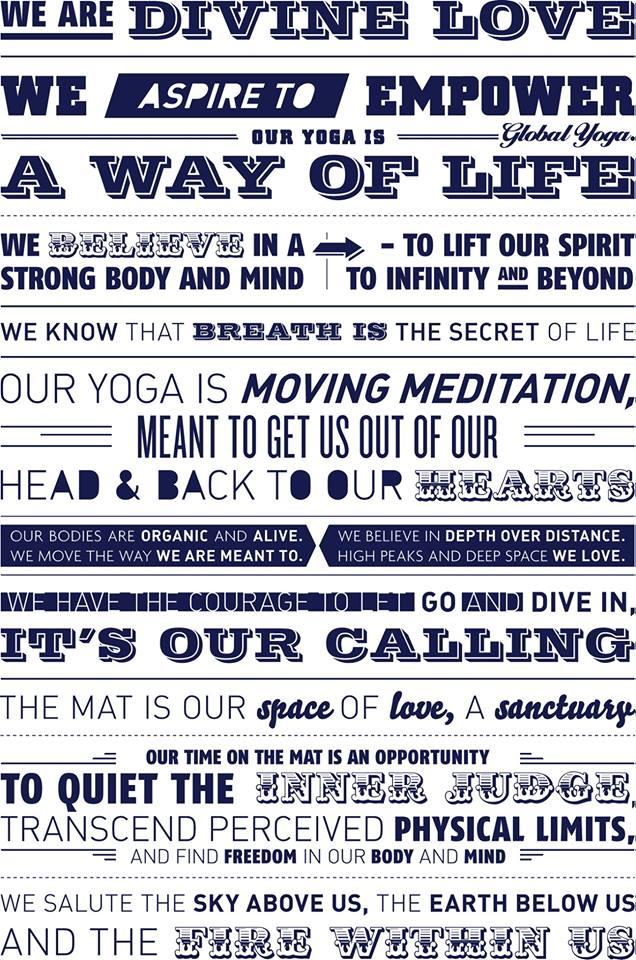 Global Yoga Manifesto